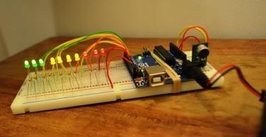 Light-indicating sound monitor